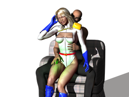 Powergirl Lap by orionsforge