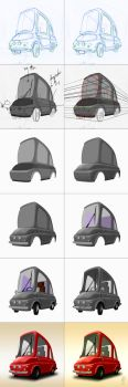 One seat car step by step process by AgeBee