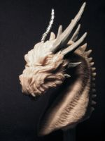 Smaug bust WIP#2 by Skull-Droid