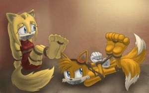 Tails X Zooey: Bound by love by Shadz-the-Fox