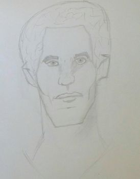 Study of Faces and Facial Structure #1: Male Face by PotterheadWombat
