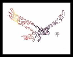 Tribal Eagle (revised) by Mile0