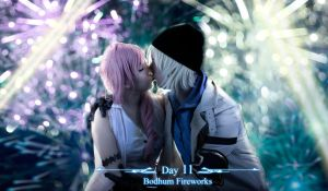 Serah and Snow cosplay by mayuyu0405