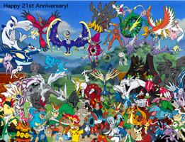 Pokemon 21st Anniversary wallpaper by DarkKnight215