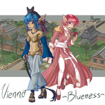 Blueness and Vienna by faeore