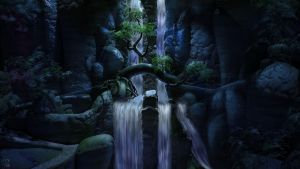 Waterfall by mangis