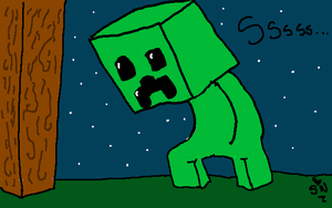 Creeper Commission by GalaxyCookie