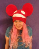 Red Deadmau5 Hat Cosplay by HatcoreHats