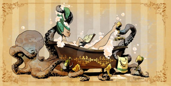 bath time with otto by BrianKesinger