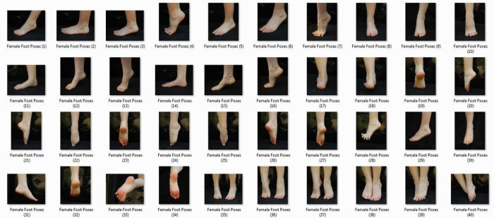 Female Foot Poses Pack by aipstock