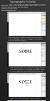Typography text tutorial by Mv2dot