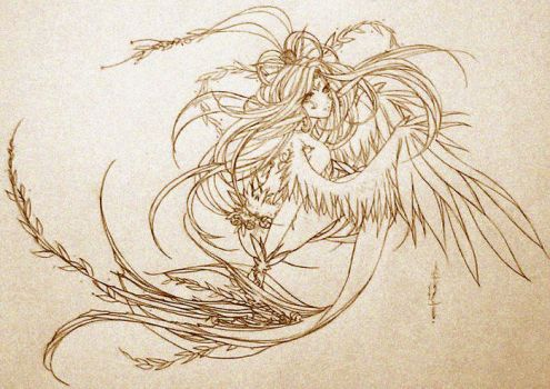 Fuzzy Lineart - Water Sprite by tomuyu