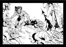 Wolverine and Wolves by johnsonverse