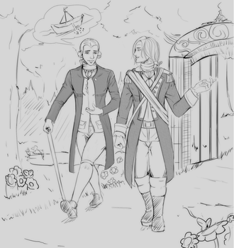 A stroll through the garden  - Commission by jamjamstyle