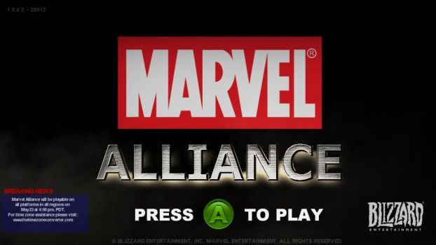 Overwatch style MARVEL ALLIANCE game title-screen by TheDarkRinnegan