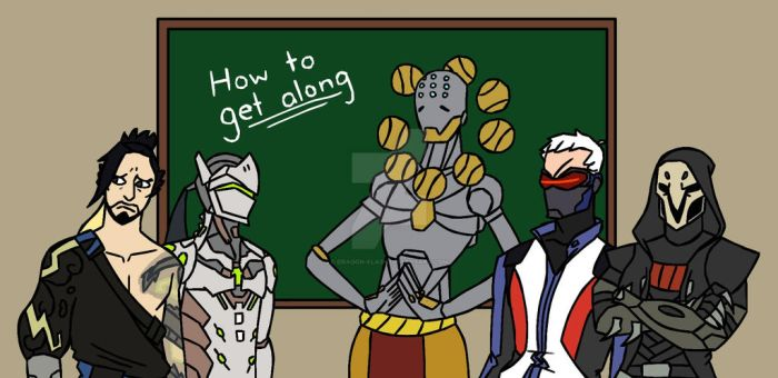 How To Get Along 101 - with Zenyatta by Dragon-Flash