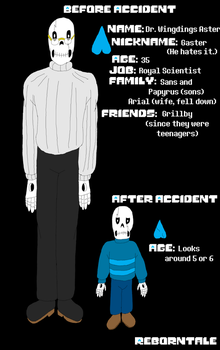 RebornTale Gaster Refence by Pharaoh-Yami