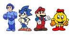 Video Game heroes in their cartoon designs by MarcosPower1996