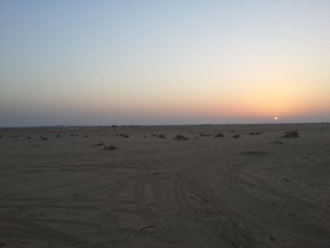 Desert Sunset by mrabudi