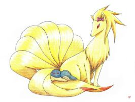 Ninetales and Cyndaquil