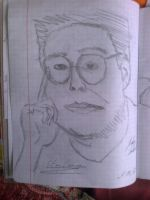 How to draw Stieg Larsson for 5 min? by andrushka1