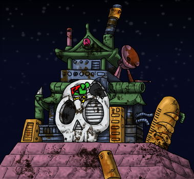 Dr. Wily's Castle by julio-lupin-jr