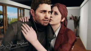 Chris and Claire Redfield by JhonyHebert