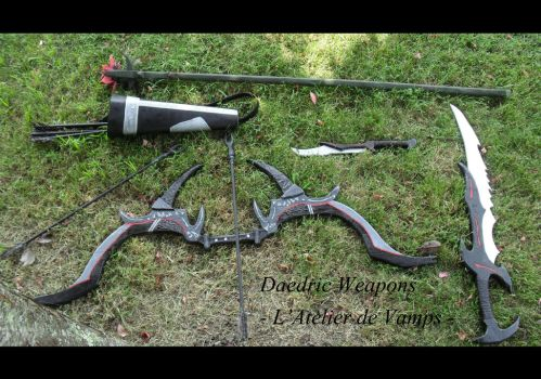 Daedric Weapons Set by VampsFire