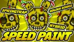 SPEEDPAINT - FNAF 3 - Golden Bonnie Pixel Art Icon by GEEKsomniac