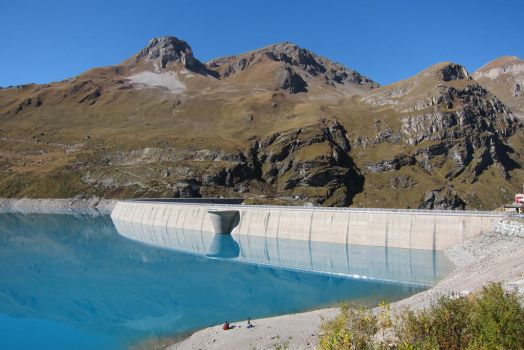 Moiry Dam wall by elodie50a