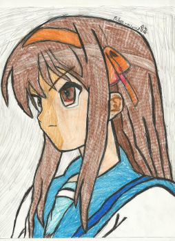 a picture of haruhi by failure-wizard12