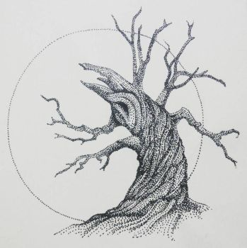 Inktober day 26:  Tree of the Dead by artifexToils