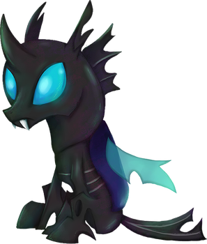 My Little Pony - Changeling shirt design by kaizerin