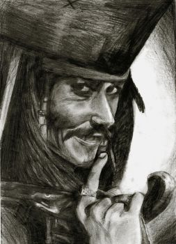 jack sparrow - they are coming - by helebeen