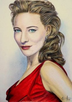 Cate Blanchette by TomHornArt