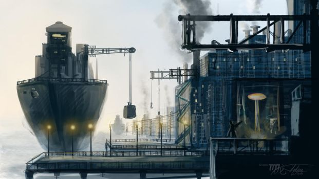 speedpaint industrial city by - photo #13