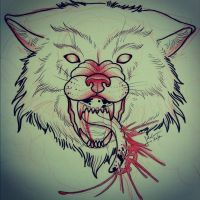 ANGRY wolf by TorieLarson