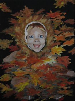Little Lion in the Leaves by Tlynndra