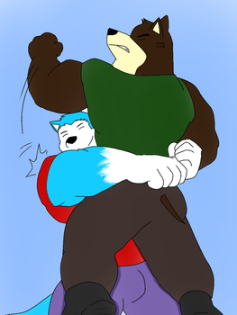 I give you big bear hug by BluMasterBlade