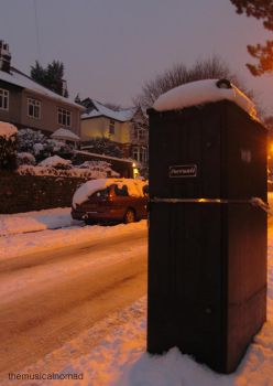 Glow Lamp in the Snow by themusicalnomad