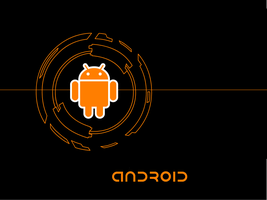 Orange Android Wallpaper by AwesomeFox