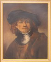 Copy of a self-portrait by Rembrandt by Nicolaspok
