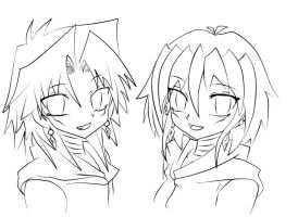 Marik and Me line art by XXXXwitlee