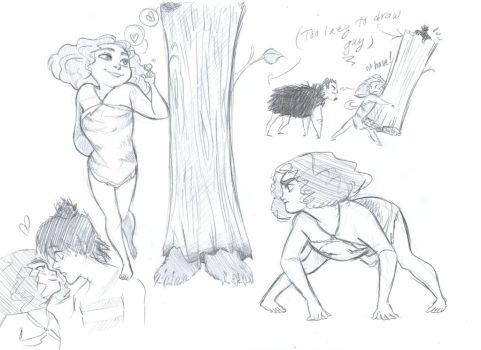 The Croods sketches by Foxsnout45