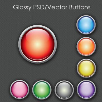 Glossy Web Buttons by SoftPurple