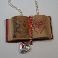 Open Love Book Necklace by JanDaJewelry