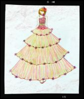pink and green debut gown by BethzAbonitz