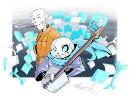 Undertale :: Underswap :: Playing with Paper by SpaceJacket
