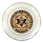 Ouija Mystic Eye pendulum Oracle porcelain plate by ShayneOtheDead