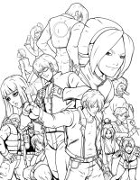 King of Fighters collage by RJM-Studio